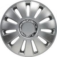 4-Delige Wieldoppenset Silverstone Pro 16-inch zilver + chroom ring