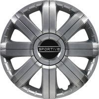 4-Delige Wieldoppenset Sportive 16-inch zilver