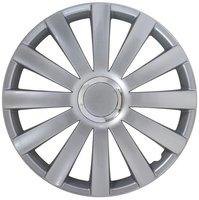 4-Delige Wieldoppenset Spyder 15-inch zilver + chroom ring