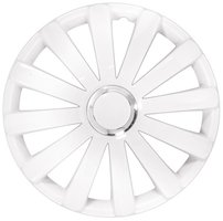 4-Delige Wieldoppenset Spyder 15-inch wit + chroom ring