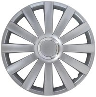 4-Delige Wieldoppenset Spyder 16-inch zilver + chroom ring