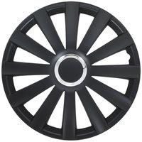 4-Delige Wieldoppenset Spyder 16-inch zwart + chroom ring