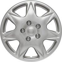 4-Delige Wieldoppenset California 16-inch zilver