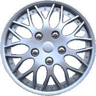 4-Delige Wieldoppenset Missouri 15-inch zilver