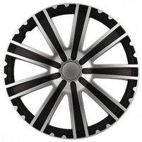 4-Delige Wieldoppenset Toro 15-inch zwart/zilver