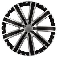 4-Delige Wieldoppenset Toro 16-inch zwart/zilver