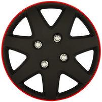 4-Delige Wieldoppenset Michigan 16-inch matzwart/rode rand