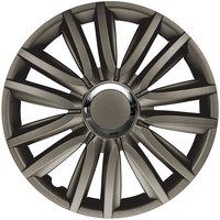 4-Delige Wieldoppenset Intenso Pro 15-inch donker grijs + chroom ring