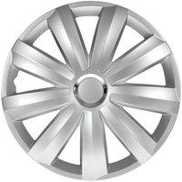 4-Delige Wieldoppenset Venture Pro 16-inch zilver + chroom ring (Nylon)