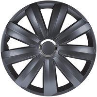 4-Delige Wieldoppenset Venture Pro 16-inch grijs + chroom ring (Nylon)