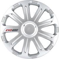 4-Delige Wieldoppenset EVO Race 15-inch zilver/chroom ring/logo
