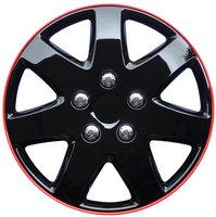 4-Delige Wieldoppenset Michigan 16-inch zwart/rode rand