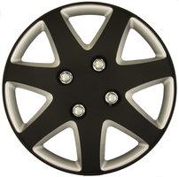 4-Delige Wieldoppenset Michigan 15-inch matzwart/zilver