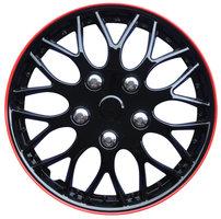 4-Delige Wieldoppenset Missouri 16-inch zwart/rode rand