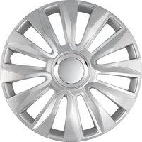 4-Delige Wieldoppenset Avalone Pro 16-inch zilver + chroom ring