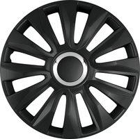 4-Delige Wieldoppenset Avalone Pro 16-inch zwart + chroom ring