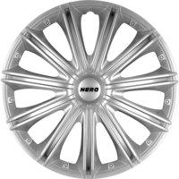 4-Delige Wieldoppenset Nero 16-inch zilver
