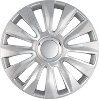4-Delige Wieldoppenset Avalone Pro 15-inch zilver + chroom ring