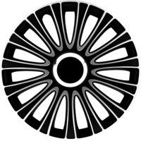 4-Delige Wieldoppenset LeMans 16-inch zwart/wit