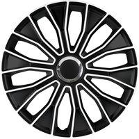 4-Delige Wieldoppenset Voltec Pro 16-inch zwart/wit