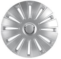 4-Delige Wieldoppenset Daytona Pro 16-inch zilver/chroom ring