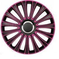 4-Delige Wieldoppenset LeMans 15-inch zwart/roze
