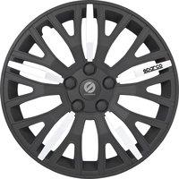 4-Delige Sparco Wieldoppenset Leggera 13-inch zwart/zilver