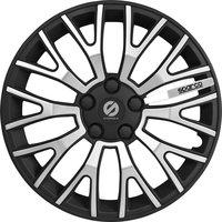 4-Delige Sparco Wieldoppenset UltraLeggera 13-inch zwart/zilver