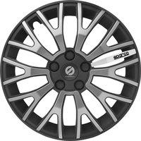 4-Delige Sparco Wieldoppenset UltraLeggera 13-inch zwart/grijs