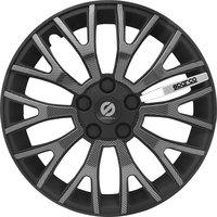 4-Delige Sparco Wieldoppenset UltraLeggera 13-inch zwart/carbon