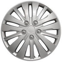 4-Delige Wieldoppenset Washington 16-inch zilver