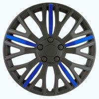 4-Delige Wieldoppenset Vermont 16-inch zwart/blauw