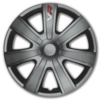 4-Delige Wieldoppenset VR 16-inch grijs/carbon-look/logo