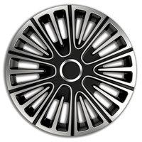 4-Delige Wieldoppenset Motion 16-inch zilver/zwart