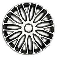 4-Delige Wieldoppenset Mugello 15-inch wit/zwart