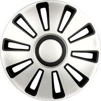 4-Delige Wieldoppenset Silverstone 16-inch zilver/zwart