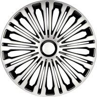 4-Delige Wieldoppenset Volante 16-inch zilver/zwart