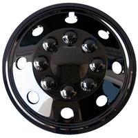 4-Delige Wieldoppenset Utah 16-inch glanzend zwart (extra bol)