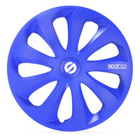 4-Delige Sparco Wieldoppenset Sicilia 14-inch blauw/carbon