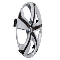 4-Delige Wieldoppenset Dakota 16-inch zilver/zwart