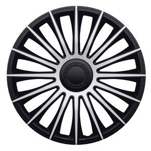 4-Delige J-Tec Wieldoppenset Austin 13-inch zilver/zwart