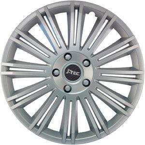 4-Delige J-Tec Wieldoppenset Discovery 15-inch zilver