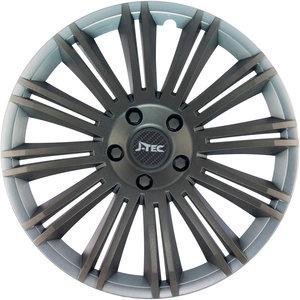 4-Delige J-Tec Wieldoppenset Discovery R 15-inch zilver/grijs