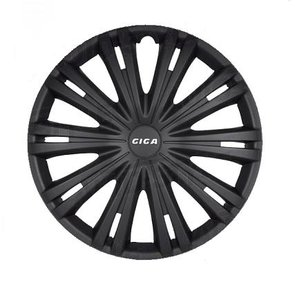 4-Delige Wieldoppenset Giga 15-inch mat zwart