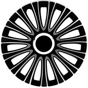 4-Delige Wieldoppenset LeMans 15-inch zwart/wit