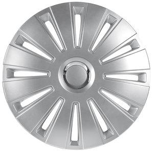 4-Delige Wieldoppenset Daytona Pro 15-inch zilver/chroom ring