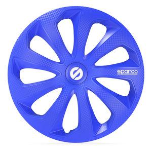 4-Delige Sparco Wieldoppenset Sicilia 15-inch blauw/carbon